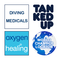 e-med Private Medical Services, Tanked Up Magazine, Scuba Trust, e-med Medipac